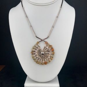 Sunflower Necklace Sterling Handmade in Italy